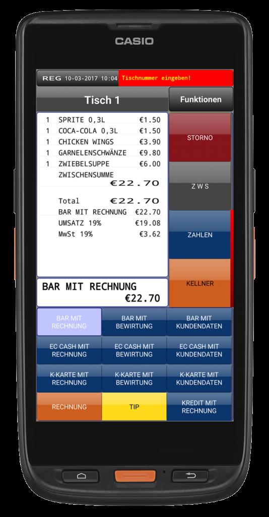 Mobile Kasse Casio ET-L10KC