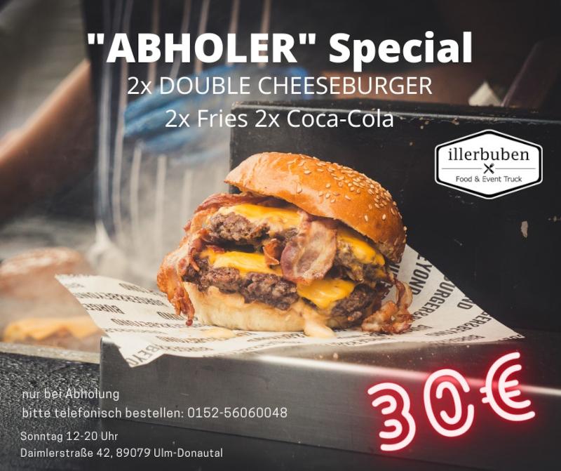 Abholerspecial Burger Anbebot