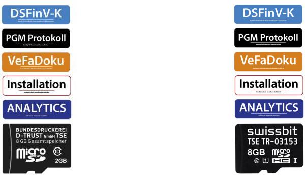 Verfügbare TSE Upgrade-Kits bzw. TSE-Nachrüstsets für Casio Kassen
